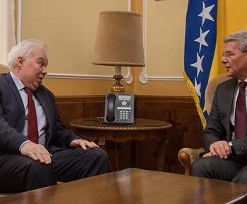 В Сараево состоялась встреча Посла России в БиГ П.А. Иванцова с членом Президиума БиГ Ш. Джаферовичем
