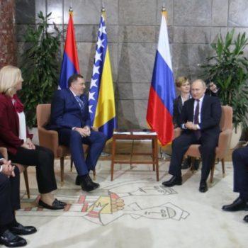 В Белграде состоялась встреча Председателя Президиума Боснии и Герцеговины Милорада Додика и Президента Российской Федерации Владимира Путина
