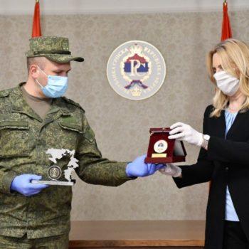 Российский полковник награжден медалью за заслуги перед народом Республики Сербской