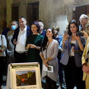 В сербском культурном центре города Пула в рамках фестиваля русско-сербской  дружбы открылась выставка «Другие берега» русской художницы Софии Ечиной